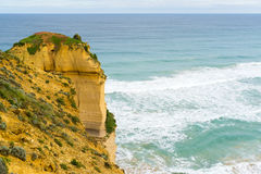 Cliff. Along the Great Ocean Road near the Twelve Apostles Stock Photography