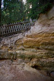 Cliff along hiking path Stock Image