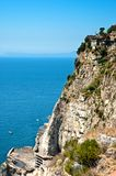 Cliff on the Amalfi Coastline Stock Photos