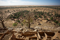 Cliff of Bandiagara Stock Photography