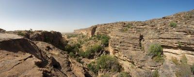 Cliff of Bandiagara in Dogon Land Royalty Free Stock Image