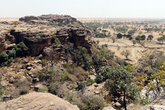Cliff in Bandiagara, Mali, West Africa Royalty Free Stock Photos
