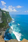 Cliff bank in Bali Royalty Free Stock Image