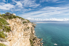 Cliff of Barbate in a sunny day. Stock Image