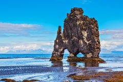 The cliff in the Bay of Huna as monster Royalty Free Stock Photography