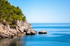 Cliff in the bay Sa Calobra, Mallorca, Spain Royalty Free Stock Photos