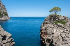 Cliff in the bay Sa Calobra, Mallorca, Spain Stock Images