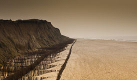 Cliff & Beach Royalty Free Stock Photo