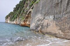 Cliff Beach Royaltyfri Bild