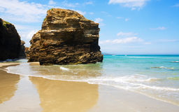 Cliff at beach in summer Royalty Free Stock Images