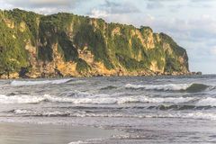Cliff on Beach of Yogyakarta Stock Photo