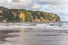 Cliff on Beach of Yogyakarta Royalty Free Stock Image