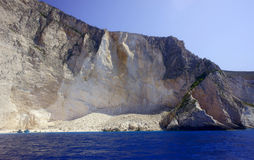 Cliff with beach, Zakynthos island Stock Images