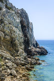 Cliff in the Beliche beach, Sagres, Portugal Royalty Free Stock Photo