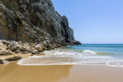 Cliff in Beliche beach, Sagres, South of Portugal Stock Photo