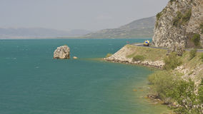 Cliff in Beysehir lake Stock Photos