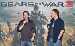 Cliff Bleszinsky and Gears of War 3 Stock Photography