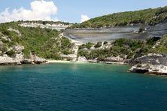 Cliff at Bonifacio - Corsica Royalty Free Stock Photos