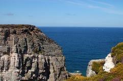 Cliff Breton in Cap Frehel Stock Photo