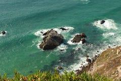 Cliff Cabo da Roca au Portugal Photo stock