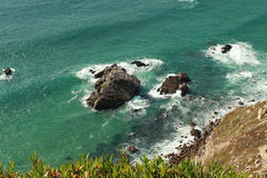 Cliff Cabo da Roca em Portugal Foto de Stock