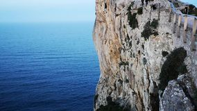 Cliff in Cabo Formentor on the island of Majorca stock video footage