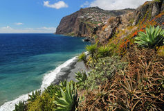 Cliff Cabo Girao at southern coast of Madeira 03 Royalty Free Stock Image