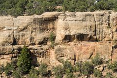 Cliff Canyon Overlook a Mesa Verde National Park Fotografie Stock