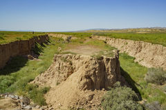 Cliff at Carrizo Plain. National Monument, California, U.S.A Royalty Free Stock Photography