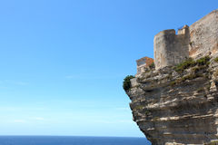Cliff castle against the sea Royalty Free Stock Image