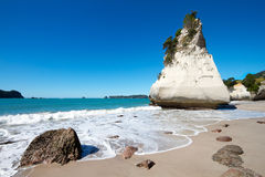 Cliff at Cathedral Cove Stock Photography
