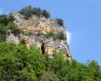 Cliff Cave on the Dordogne Stock Photography