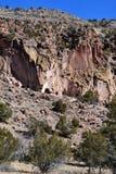 Cliff Cave Dwellings Stockbild