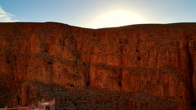 Cliff. Caves on the side of a cliff. Shot at sunset Stock Photography
