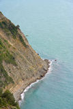 Cliff of cinque terre coastline Stock Photography