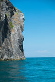 Cliff and the clear sea Royalty Free Stock Photo