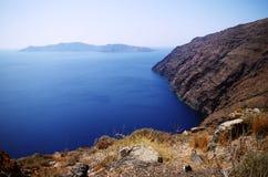Cliff. The cliffs of Aegean sea Stock Photo