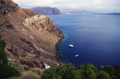 Cliff. The cliffs of Aegean sea Royalty Free Stock Photo