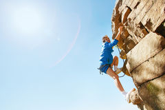 Cliff climber Stock Image