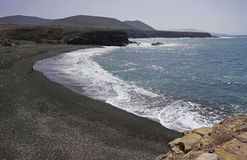 Cliff coast at Ajuy - Fuerteventura Royalty Free Stock Image