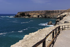 Cliff coast at Ajuy - Fuerteventura Royalty Free Stock Images