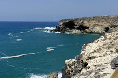 Cliff coast at Ajuy - Fuerteventura Stock Image