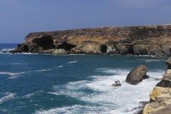 Cliff coast at Ajuy - Fuerteventura Stock Images