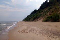 Cliff coast at the baltic sea Stock Photo