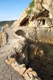 Cliff on the coast of Biodola Royalty Free Stock Photos