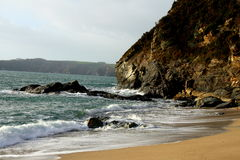 Cliff on the coast of Cornwall Stock Photography