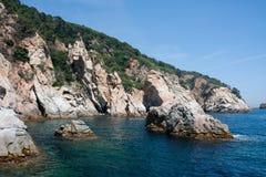 Cliff coast of Costa Brava Royalty Free Stock Photo