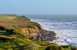 Cliff coast of the English Channel Stock Photos