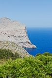 Cliff coast in Mediterranean Sea Stock Photography