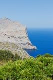 Cliff coast in Mediterranean Sea Stock Photography